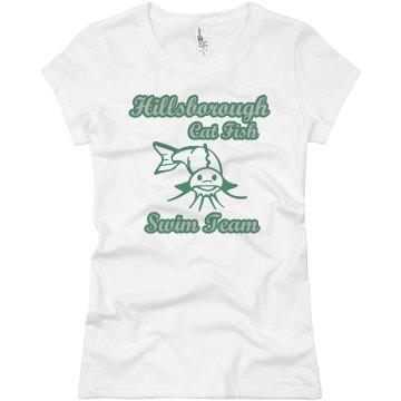 Cat Fish Swim Team Junior Fit Basic Bella Favorite Tee