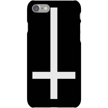 StPeter Upside Down Cross Plastic iPhone 5 Case Black