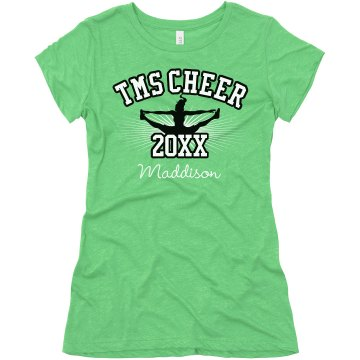 Cheer Tee Junior Fit Bella Triblend Tee