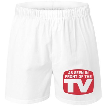 As Seen in Front of TV Unisex Robinson Boxer Shorts