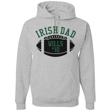 Irish Football Dad Unisex Gildan Heavy Blend Hoodie