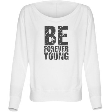Be Forever Young Bella Flowy Lightweight Long Sleeve Dolman Tee