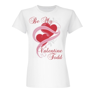 Be My Valentine  Junior Fit Basic Bella Favorite Tee