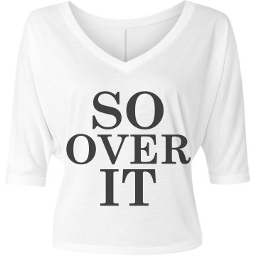 So Over It Misses Bella Flowy V-Neck Half-Sleeve Tee