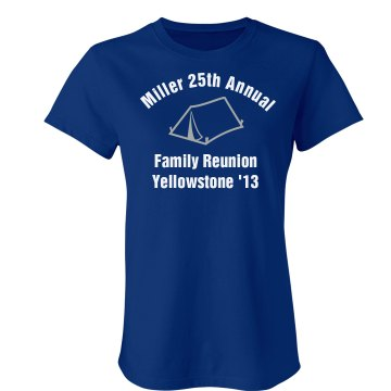 Miller Family Reunion Junior Fit Bella Crewneck Jersey Tee