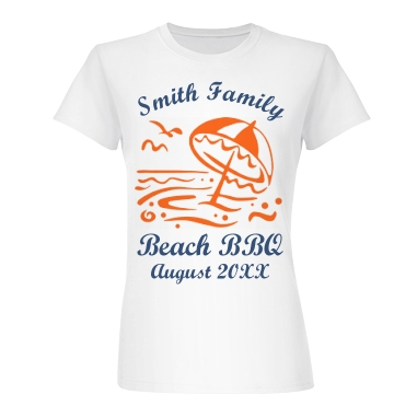 Beach BBQ Junior Fit Basic Bella Favorite Tee