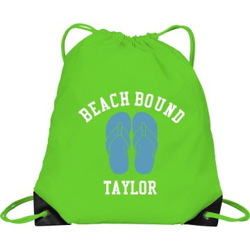 Beach Bound Bag Port & Company Drawstring Cinch Bag