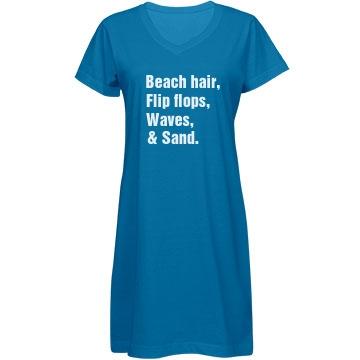 Beach Hair And Sand