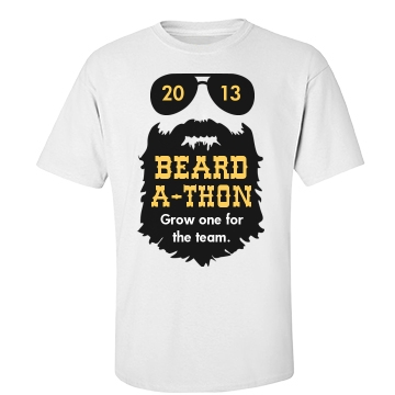 Beard-A-Thon Shirt Unisex Gildan Heavy Cotton Crew Neck Tee