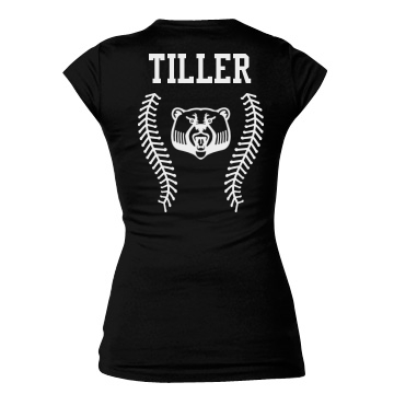 Bears Baseball Girlfriend Junior Fit Bella Sheer Longer Length Rib Tee