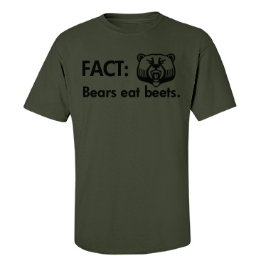 Bears Eat Beats-mens Unisex Gildan Heavy Cotton Crew Neck Tee