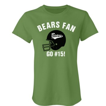 Bears Fan Football Tee Junior Fit Bella Favorite Tee