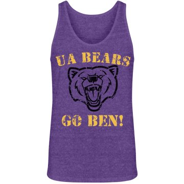 Bears Football Fan Unisex Canvas Jersey Tank Top