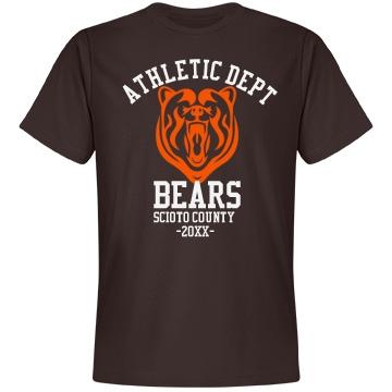 Bears Sports Department Unisex Anvil Lightweight Fashion Tee