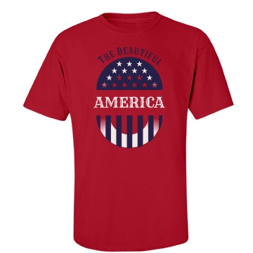 Beautiful America Unisex Port & Company Essential Tee