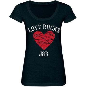Love Rocks Junior Fit Bella Sheer Longer Length Scoopneck Tee