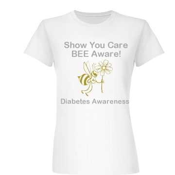 Bee Aware Junior Fit Basic Bella Favorite Tee