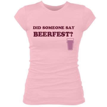 Beerfest? Junior Fit Bella Sheer Longer Length Rib Tee
