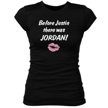Before Justin.... Junior Fit Bella Sheer Longer Length Rib Tee