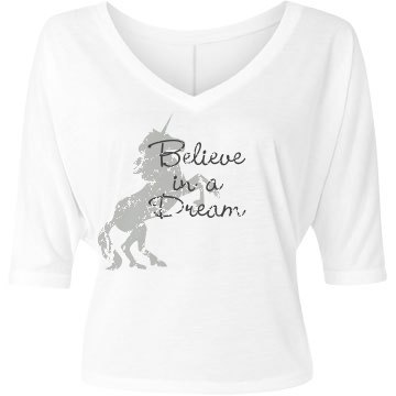 Believe Bella Flowy Lightweight V-Neck Half-Sleeve Tee