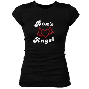 Ben's Angel Junior Fit Bella Sheer Longer Length Rib Tee
