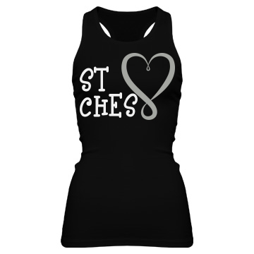 Best Bitches Two Junior Fit Bella Sheer Longer Length Rib Racerback Tank Top