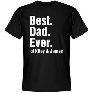 Best Dad Tee Unisex Anvil Lightweight Fashion Tee
