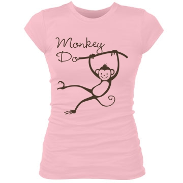 Best Friend Monkeys Tee Junior Fit Bella Sheer Longer Length Rib Tee
