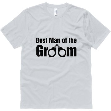 Best Man Of The Groom Unisex Canvas Jersey Tee