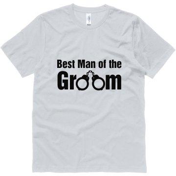 Best Man Of The Groom Unisex Canvas Jersey Tee