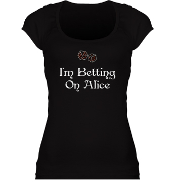Betting on Alice Junior Fit Bella Sheer Longer Length Scoopneck Tee