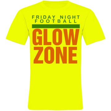 Football Glow Zone Unisex American Apparel Neon Crew Neck Tee