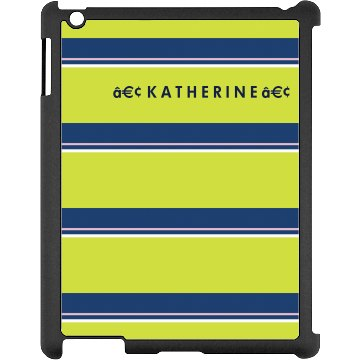 Custom Name iPad Case Black iPad Snap-on Case