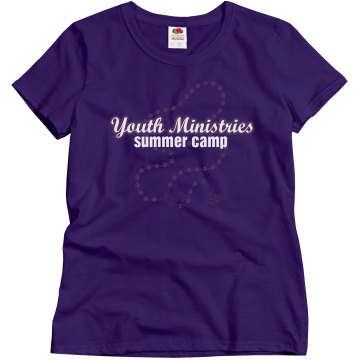 Youth Ministries Camp Misses Relaxed Fit Gildan Ultra Cotton Tee