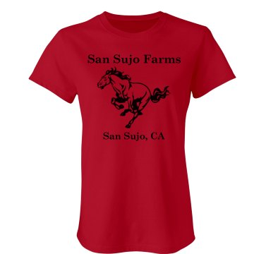 San Sujo Horse Farm Junior Fit Bella Slit V-Neck Tee