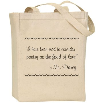 Mr. Darcy Quote Bag Liberty Bags Canvas Tote