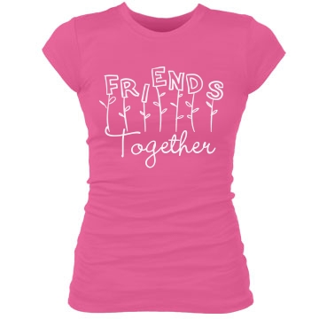 BFF Matching Shirt Junior Fit Bella Sheer Longer Length Rib Tee