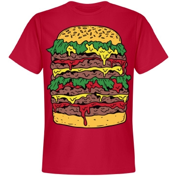Big Messy Cheeseburger Unisex Anvil Lightweight Fashion Tee