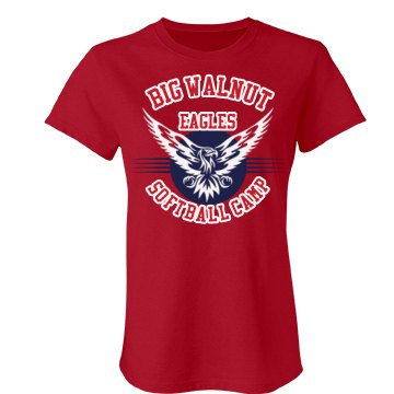 Big Walnut Eagles Camp Junior Fit Bella Favorite Tee