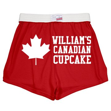 Bill's Canada Cupcake Junior Fit Soffe Cheer Shorts