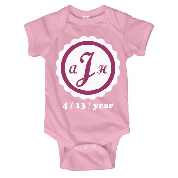 Birth Date Onesie