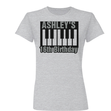 Birthday Keyboard Shirt Junior Fit Basic Bella Favorite Tee