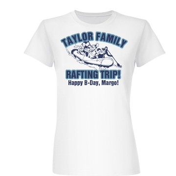 Birthday Rafting Trip Junior Fit Basic Bella Favorite Tee