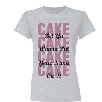 Birthday Text Tee Junior Fit Basic Bella Favorite Tee
