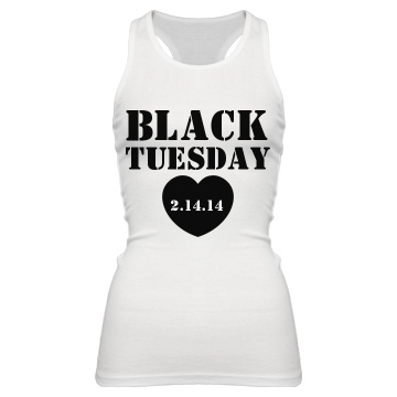 Black Tuesday Junior Fit Bella Sheer Longer Length Rib Racerback Tank Top