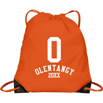 Block O bag Port & Company Drawstring Cinch Bag