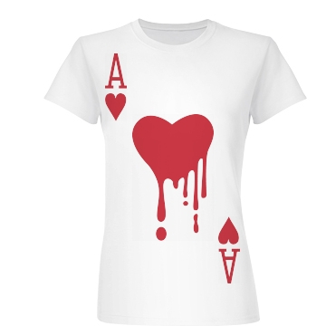 Bloody Ace Of Hearts Junior Fit Basic Bella Favorite Tee