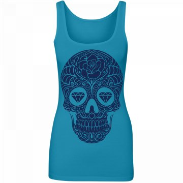 Blue Diamond Sugar Skull