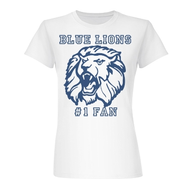 Blue Lions #1 Fan Junior Fit Basic Bella Favorite Tee