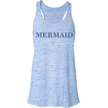 Blue Mermaid Bella Flowy Lightweight Racerback Tank Top